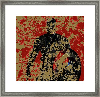 Captain America 4b Framed Print by Brian Reaves