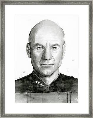 Captain Picard Framed Print