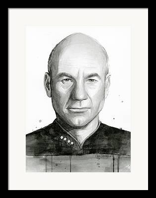 Jean Luc Picard Framed Prints