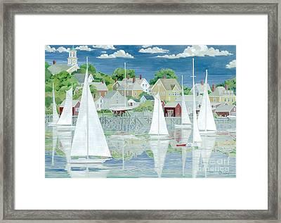 Captain's Harbor Framed Print