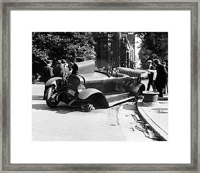 Car Accident, C1919 Framed Print