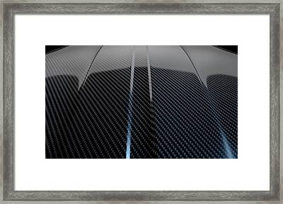Car Contour Carbon Fibre Framed Print