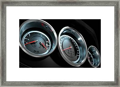 Car Dashboard Framed Print by Allan Swart