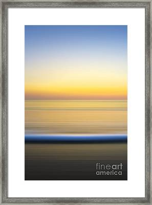 Caramel Dawn - Part 2 Of 3 Framed Print by Sean Davey