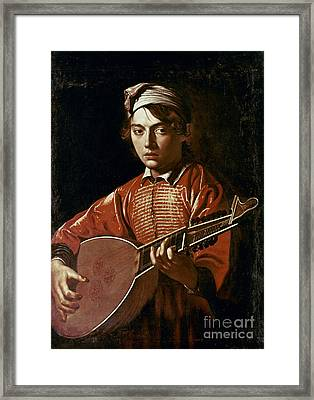 Caravaggio: Luteplayer Framed Print by Granger