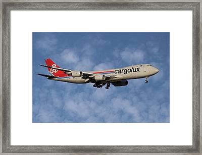Cargolux Boeing 747-8r7 1 Framed Print