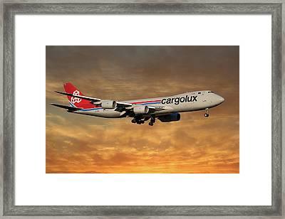 Cargolux Boeing 747-8r7 2 Framed Print