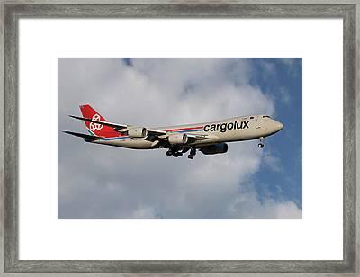 Cargolux Boeing 747-8r7 5 Framed Print