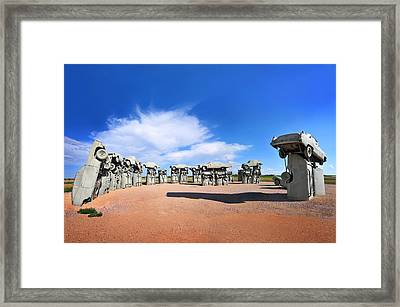 Carhenge Framed Print