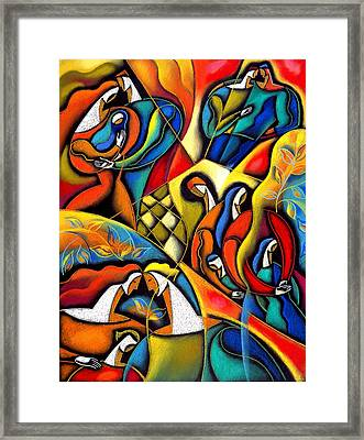 Caring Family Framed Print