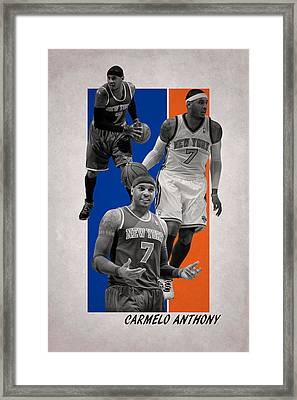 Carmelo Anthony New York Knicks Framed Print