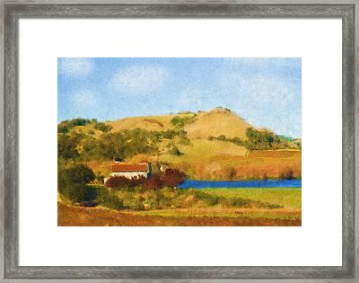 Carneros Valley Framed Print by Mick Burkey