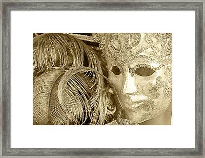 Carnival Mask Framed Print by John Hix