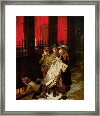 Carol Singers Framed Print by Augustus Edward Mulready