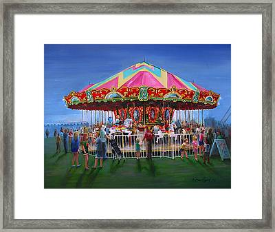 Carousel At Dusk Framed Print by Oz Freedgood