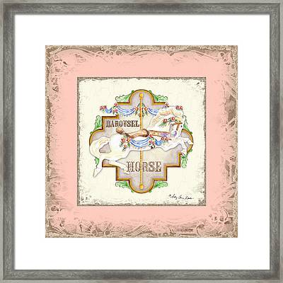 Carousel Dreams - Horse Framed Print