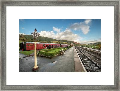 Framed Print featuring the photograph Carrog Railway Station by Adrian Evans