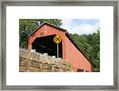 Carrollton Covered Bridge Framed Print