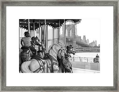 Carrousel Nyc Framed Print