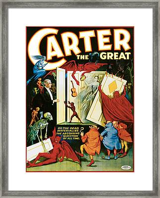Carter The Great Framed Print