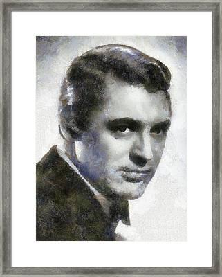 Cary Grant By Sarah Kirk Framed Print