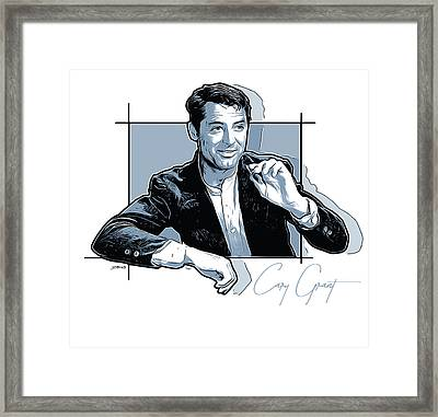 Cary Grant Framed Print by Greg Joens