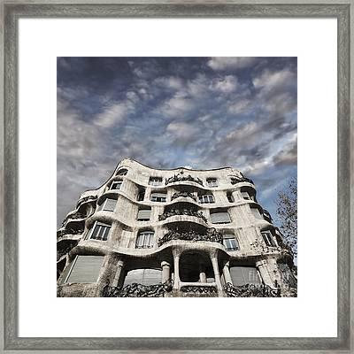 Casa Mila - Barcelona Framed Print by Rod McLean