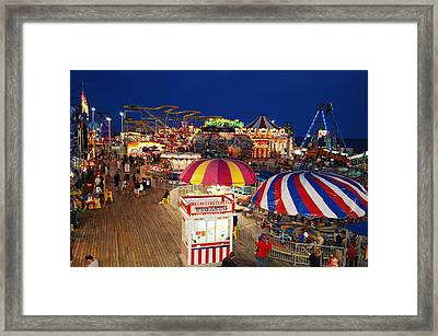 Casino Pier, Seaside Heights Framed Print