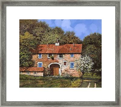 Casolare A Primavera Framed Print by Guido Borelli