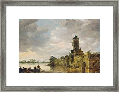 Castle By A River Framed Print