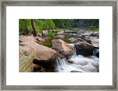 Castor River Shut-ins Framed Print