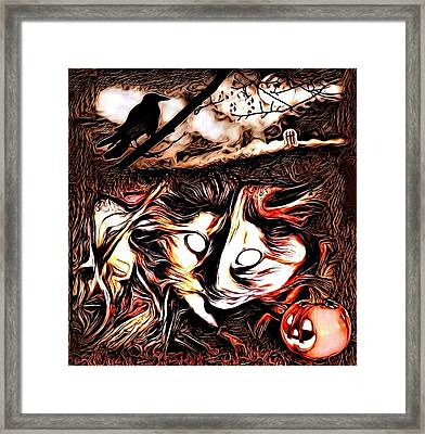 Cat Abstract By Artful Oasis 1 Framed Print