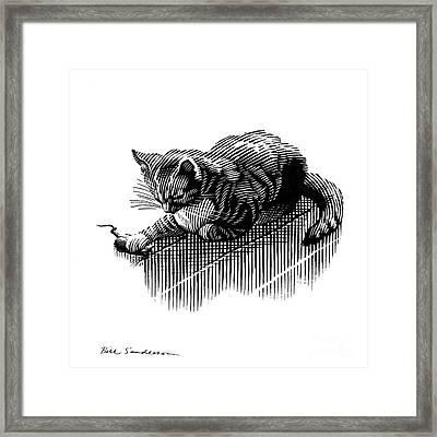 Cat And Mouse, Artwork Framed Print