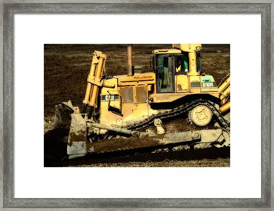 Cat Bulldozer . 7d10945 Framed Print by Wingsdomain Art and Photography