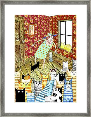 Cat Lady  Framed Print