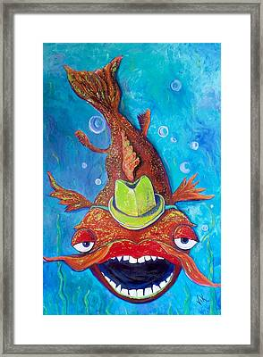 Catfish Clyde Framed Print by Vickie Scarlett-Fisher