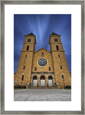 Cathedral On The Plains Framed Print by Thomas Zimmerman
