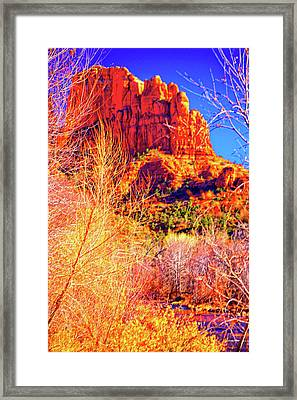 Cathedral Rock Framed Print by Paul Kloschinsky