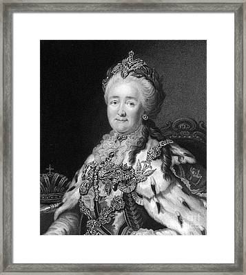Catherine The Great, Empress Of Russia Framed Print by Middle Temple Library