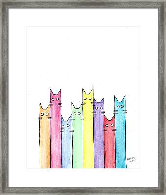 Cats Framed Print by Edwin Alverio