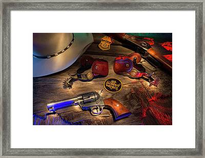 Cbp Border Patrol Framed Print by Daniel Alcocer