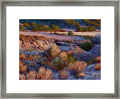 Cebada Canyon Blues Framed Print