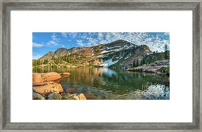 Framed Print featuring the photograph Cecret Lake by Spencer Baugh