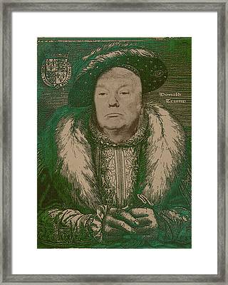 Celebrity Etchings - Donald Trump Framed Print by Serge Averbukh
