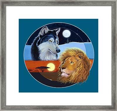 Celestial Kings Circular Framed Print