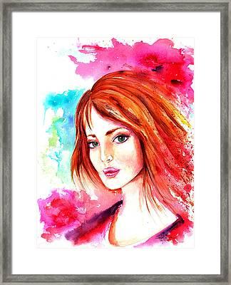 Celtic Girl Framed Print by Isabel Salvador