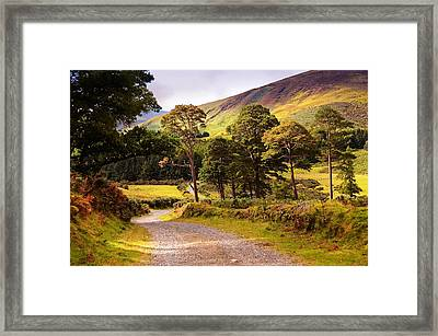 Celtic Spirit. Wicklow Mountains. Ireland Framed Print by Jenny Rainbow
