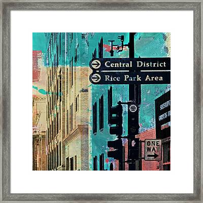 Framed Print featuring the photograph Central District by Susan Stone