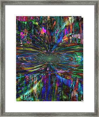 Framed Print featuring the painting Central Swirl by Kathy Sheeran