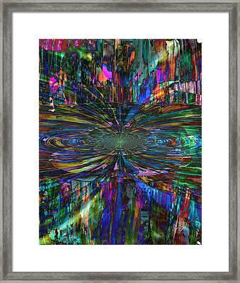 Central Swirl Framed Print by Kathy Sheeran